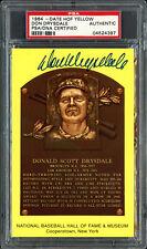 Don Drysdale Autographed Signed HOF Plaque Postcard Dodgers PSA/DNA 04524397