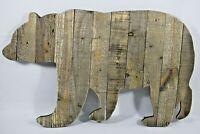 "Hobby Lobby - 24"" Rustic Wooden Bear Wall Art / Sign (Split Leg) New"