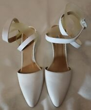 Emporio Armani Pointed toe Ankle Strappy Pump Wedge Shoes White uk 4 eu 37