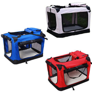 Dog Pet Puppy Fabric Portable Carrier Crate Kennel Bag Cage Fold Travel M L XL