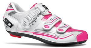 SIDI Women's Genius 7 Carbon Road Shoes | 3 bolts WHITE/PINK Size 41.5 | $249.99