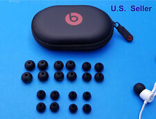 20 pcs for Beats X BeatsX by Dr Dre BLACK Round EarGels Eartips of 5 size + Case