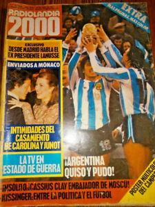 FIFA WORLD CUP ARGENTINA 1978 - ARGENTINA CHAMPION Radiolandia Magazine