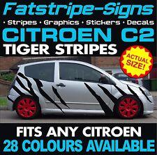 CITROEN C2 GRAPHICS TIGER STRIPES CAR VINYL DECALS STICKERS VTR VTS 1.2 1.4 1.6