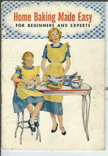 NK-028 Home Baking Made Easy Advertising Cookbook for Spry Shortening, 1953