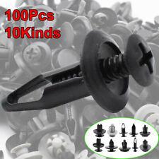 100PCS Car Trim Body Clips Kit Rivet Retainer Door Panel Bumper Plastic Fastener