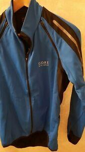 Gore Phantom Jacket Bike Wear Men Cycling Water Resistant Soft  Blue Small