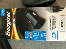 Energizer HighTech Car Charger 2.4A with Micro USB Cable and 2 USB Port