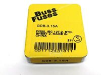Buss Fuses GDB-3.15A Fuses PACK OF 5