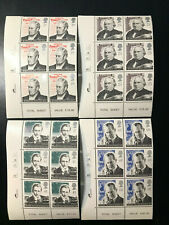 Gb Qeii Sg 1887-1890 Marconi Communications Cylinder Blocks of 6 1995 Stamp Mnh