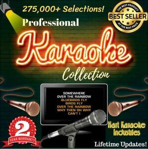 Karaoke USB 2TB Hard Drive 275,000+ All Styles Songs CDG+MP3 Lifetime Updates