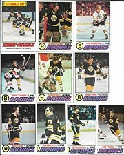 1977-78 77-78 Topps Boston Bruins 19 Card Team Set Cheevers O'Reilly Milbury RC