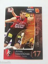 Lithuania  basketball league (LKL) cards (Weems, Rice, Newley, Bendzius, Shakur)
