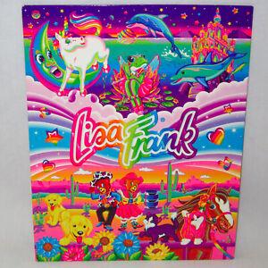 Vintage Fantastic World of Lisa Frank 3-Hole Pocket Folder Markie Frog Casey