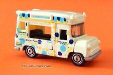 2010 Matchbox Loose Ice Cream Van Cream Polka Dot Ice Cream Co Multi Pack Ex