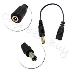 100 DC Power Jack 5.5mm Male Plug to 3.5mm Female Cable Wire 24AWG CCTV Cameras