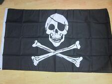 SKULL & CROSSBONES PIRATE JOLLY ROGER 3ft x 2ft Flag