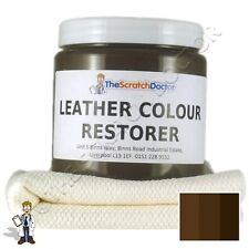 DARK BROWN Leather Dye Colour Restorer for Faded and Worn Leather Sofa etc.