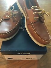Men's Sperry Top-Sider Authentic Original  2-Eye Tan Boat Shoes size 9 1/2M