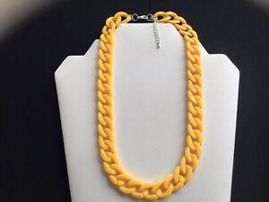 Damen Short sonnengelb Chain Link Halskette