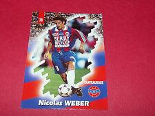 PANINI FOOTBALL CARD 98 1997-1998 NICOLAS WEBER LA BERRICHONNE CHATEAUROUX LBC
