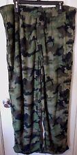 Men's Fruit Of The Loom Fleece Sleep Lounge Pants XL 40-42 Green Camo New W Tags