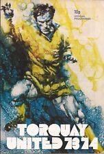 Football Programme - Torquay United v Plymouth Argyle - League Cup - 29/8/1973