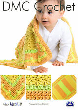 DMC   CROCHET PATTERN   Pineapple Baby Blanket  15350L/2