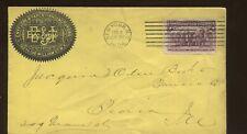 1894 New York Envelope & paper Manufacturers B&J Advertising Cover