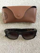 Ray Ban Justin RB4165  54 16 Rectangular Sunglasses - Tortoise/Brown Gradient