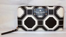 NWT KATE SPADE WELLESLEY OCTAGONAL NEDA WALLET BLACK & CREAM $168