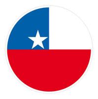 6 x Autocollant 5cm rond drapeau CHILI sticker valise PC vélo voiture