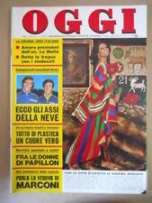 OGGI n°7 1974 Claudia Cardinale Vedova di marconi Papillon  [G803]