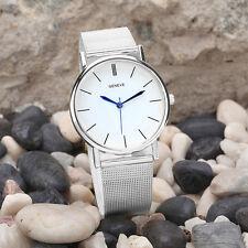 Damenuhr Edelstahl Armbanduhr Damen Herren Damenarmbanduhr Silber Uhr