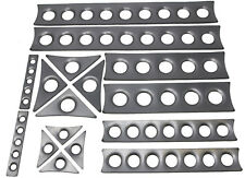 ULTIMATE ROLL CAGE GUSSET KIT DIMPLED PLATES 14G CUSTOM AVAL