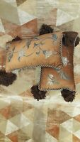 Eastern Accents Hand Crafted, Hand Painted Throw Pillow Set, 2 pieces, 12 x 21