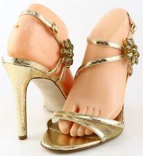ENZO Angiolini Meredyth Light Gold Womens DESIGNER Evening Wedding Sandals 8 M