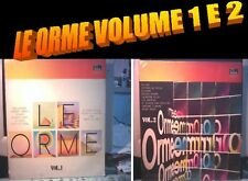 ORME VOLUME 1 E VOLUME 2  PROGRESSIVO ITALIANO DUE LP MINT