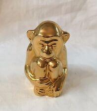 1985 Ltd Ed 97/500 ROOKWOOD Pottery Golden Monkey Paperweight Figurine