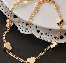 Sexy Womens Gold Heart Love Chain Bracelet Girls Bangle Jewellery Gift UK SUMMER