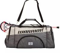 Warrior Sports Warrior Space Shuttle Lacrosse Lax Bag Gray Black OSZ New Nwt