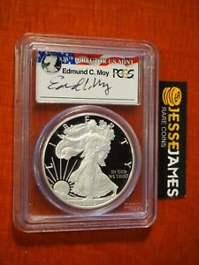 2012 S PROOF SILVER EAGLE PCGS PR70 DCAM FS EDMUND MOY FROM COIN & CURRENCY SET