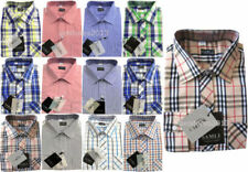 Polyester Long Sleeve Checked Shirts (2-16 Years) for Boys
