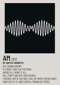 Arctic Monkeys AM Polaroid Poster A5