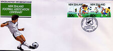 New Zealand 1991 First Day Cover FDC Football Association Centenary