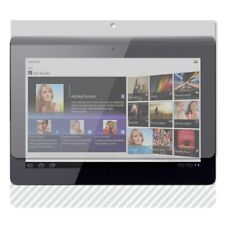 Skinomi Carbon Fiber Silver Skin Cover+Clear Screen Protector for Sony Tablet S