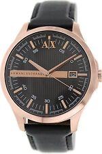 Armani Exchange Men's AX2129 'Classic' Black Leather Watch