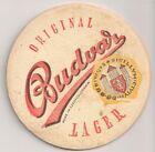 """Budweiser Budvar - alter Bierdeckel """"Original Lager"""" """"Made in Czechoslovakia"""" RV"""