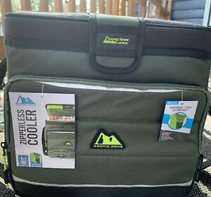 Cooler 24 Can Travel Zipperless Hard Body Liner Shoulder Strap Tailgate NWT