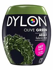 DYLON Machine Dye Pod, Olive Green, easy-to-use fabric colour for laundry, 350g